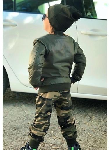 Riccotarz Erkek Çocuk Kamuflaj Armalı 4lü Alt Üst Takım Renkli